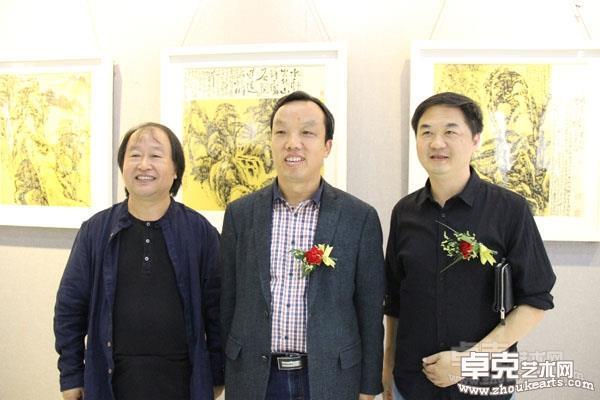 罗耀东与艺术家王永敬、安徽美术出版社陈涛